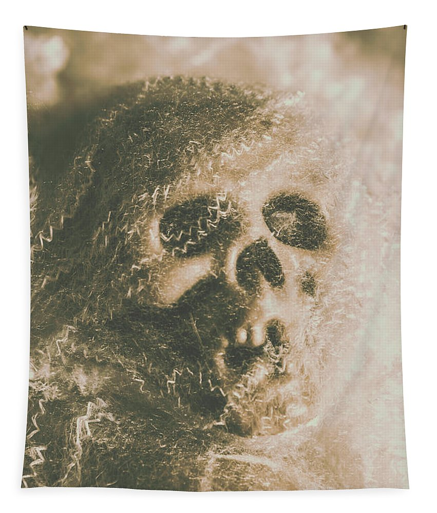 Bone Tapestry featuring the photograph Webs And Dead Heads by Jorgo Photography - Wall Art Gallery
