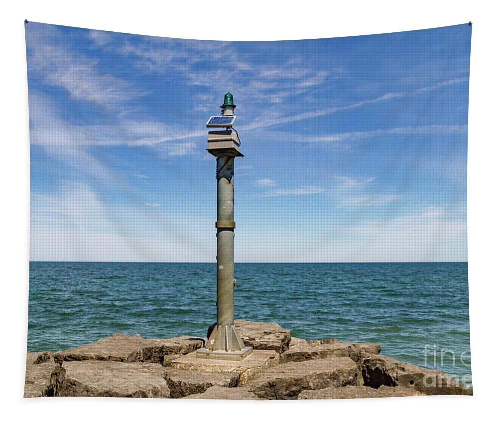 Webster Tapestry featuring the photograph Webster Jetty Light by William Norton