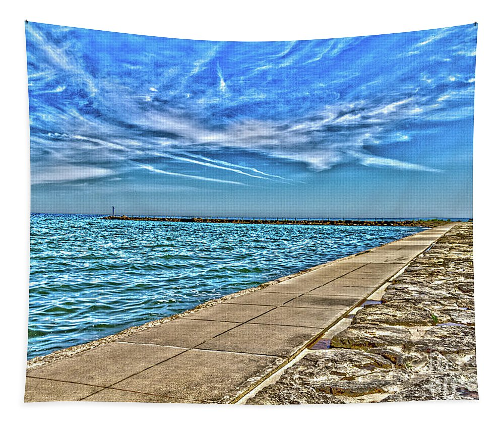 Clouds Tapestry featuring the photograph Webster Promenade by William Norton
