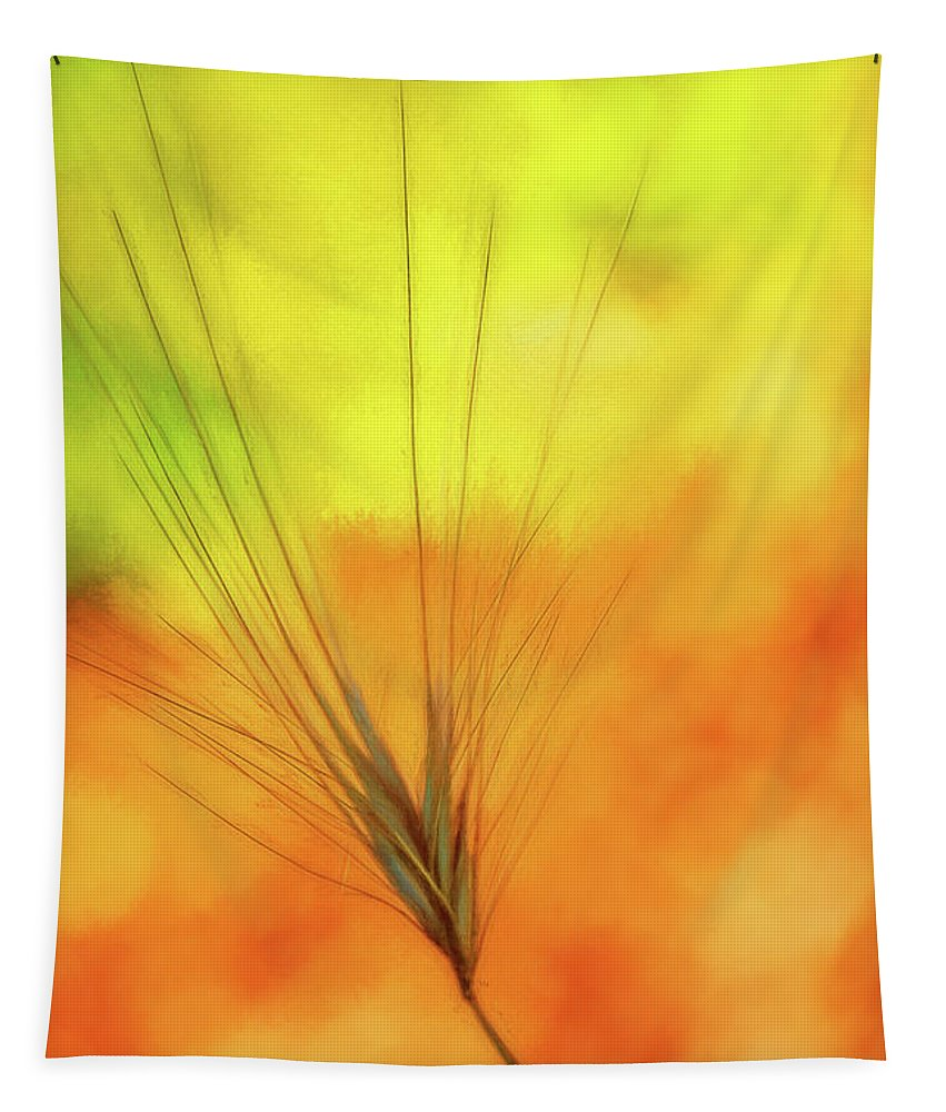 Background Tapestry featuring the mixed media Weed Glow by Terry Davis