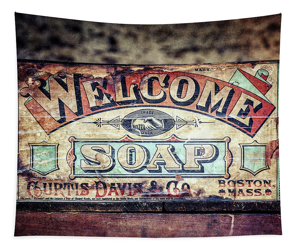 Bathroom Tapestry featuring the photograph Welcome Soap in Color by Lisa R
