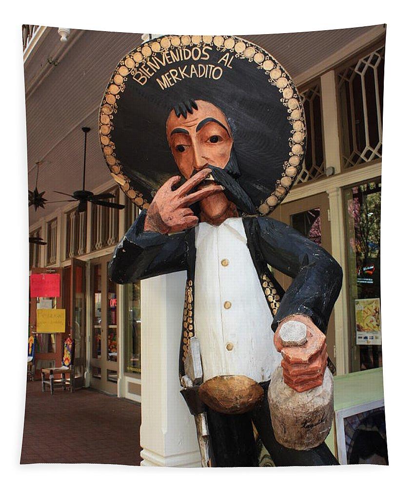 El Mercado Tapestry featuring the photograph Welcome To El Mercado by Carol Groenen