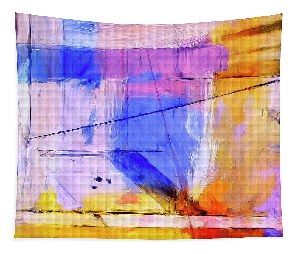 Abstract Tapestry featuring the painting Welder by Dominic Piperata