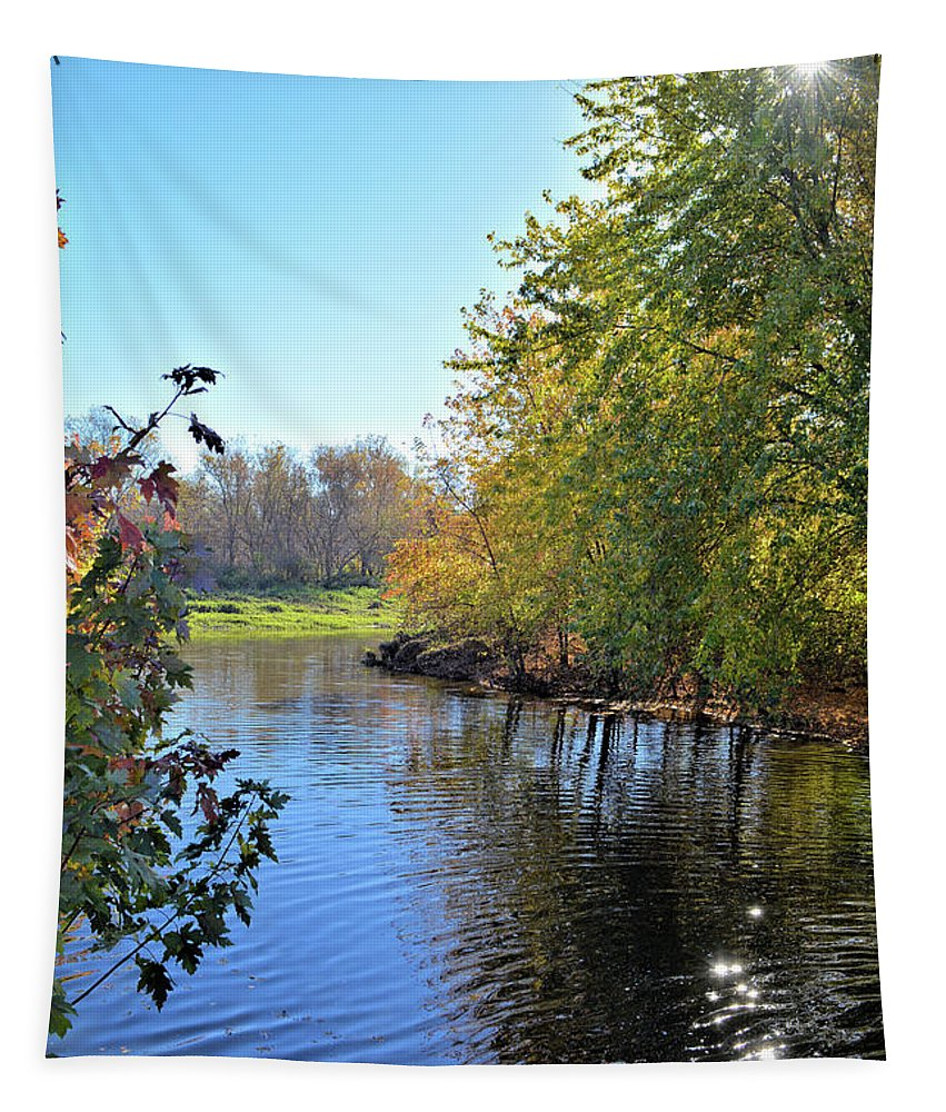 River Tapestry featuring the photograph West Branch Iowa River by Bonfire Photography