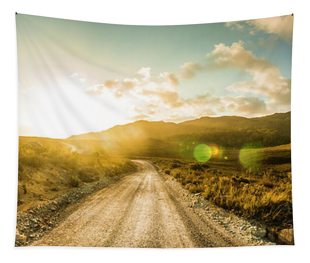 Western Tapestry featuring the photograph Western Way by Jorgo Photography - Wall Art Gallery