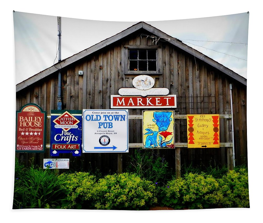 What's Your Sign Tapestry featuring the photograph What's Your Sign by Karen Cook