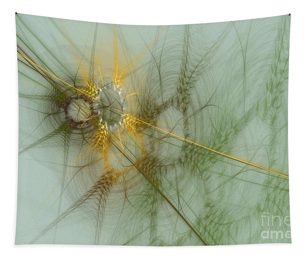 Digital Tapestry featuring the digital art Wheat Design by Deborah Benoit