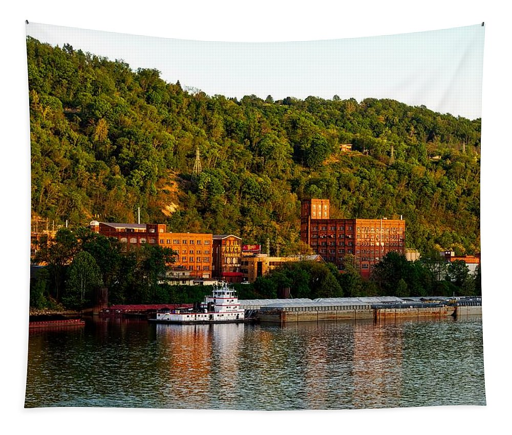 Wheeling Tapestry featuring the photograph Wheeling Island by Mountain Dreams