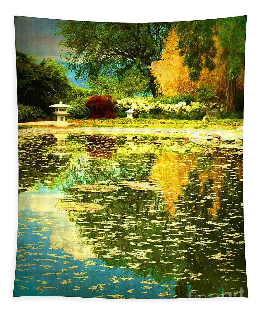 Trees Tapestry featuring the photograph When I Dream Of Spring by Tara Turner