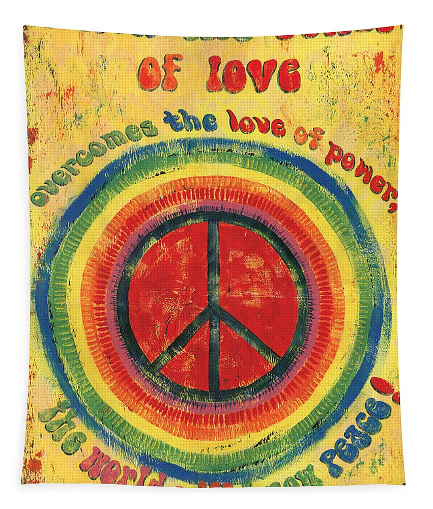 Love Tapestry featuring the painting When the Power of Love by Debbie DeWitt