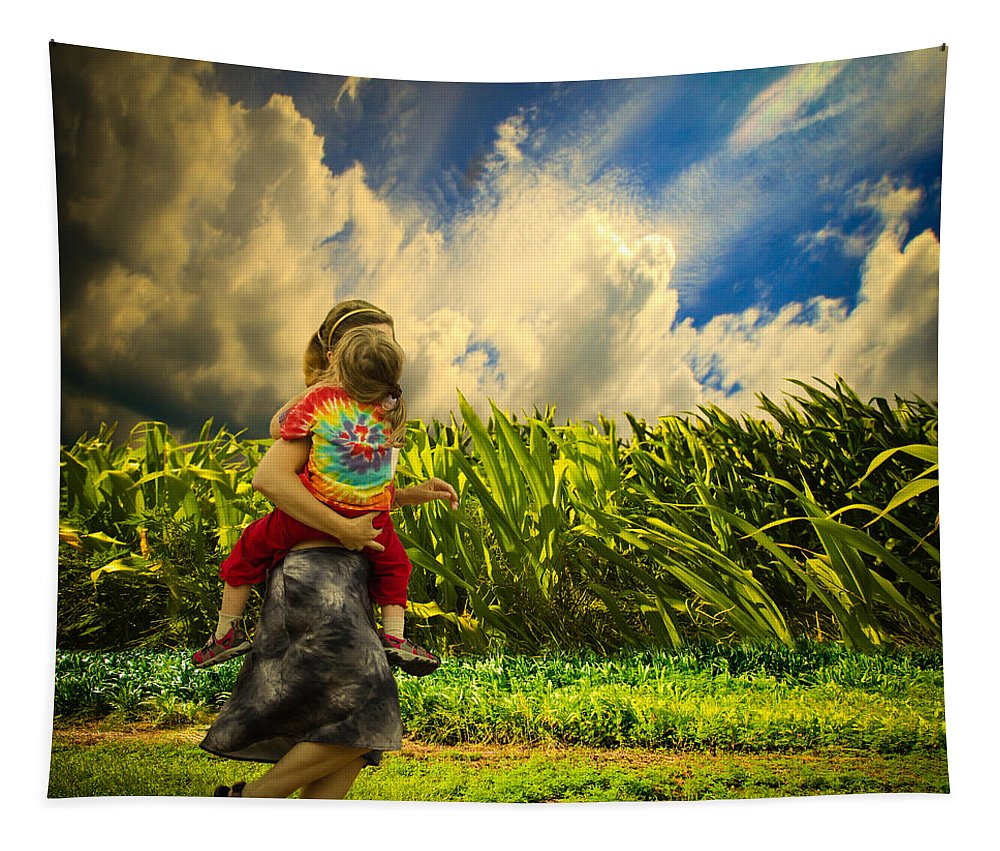 America Tapestry featuring the photograph When The Sun Comes After Rain by Bob Orsillo