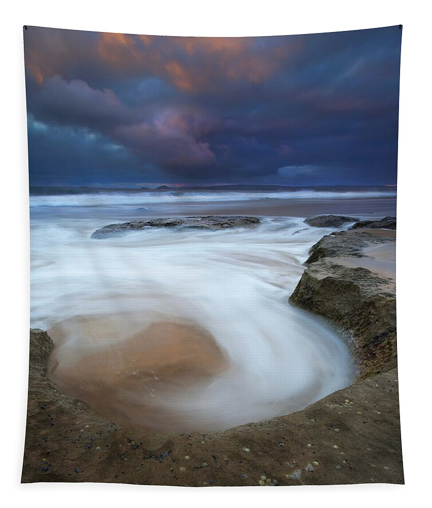 Knight's Beach Tapestry featuring the photograph Whirlpool Dawn by Mike Dawson