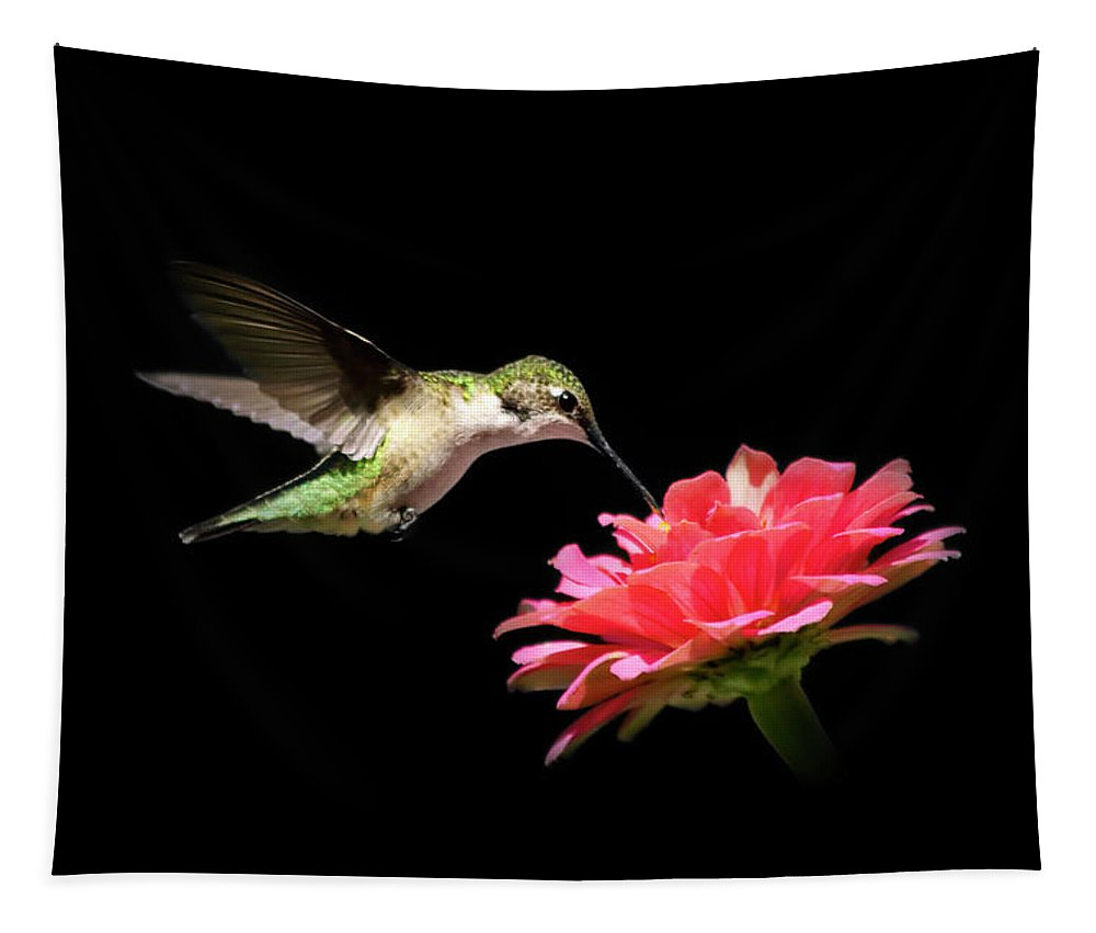 Hummingbird Tapestry featuring the photograph Whispering Hummingbird by Christina Rollo