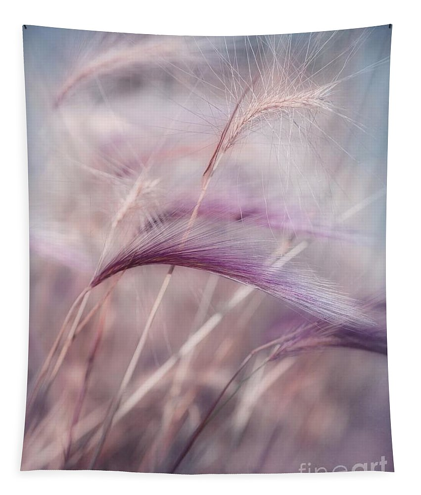 Barley Tapestry featuring the photograph Whispers In The Wind by Priska Wettstein