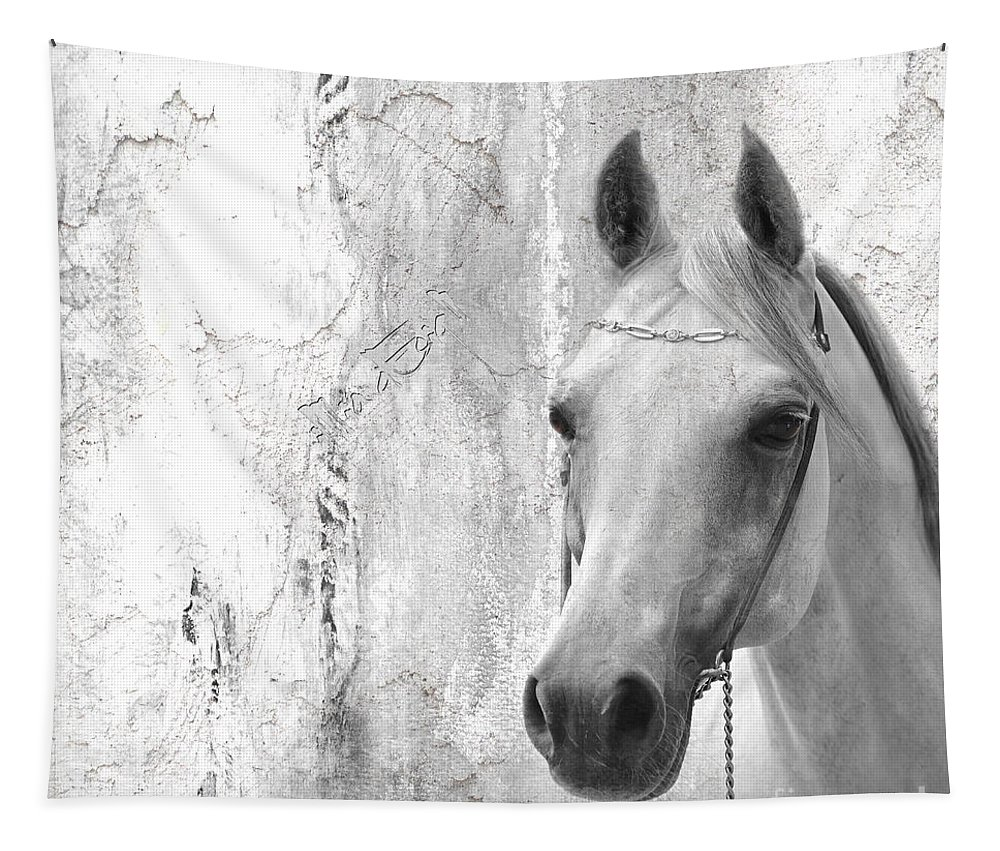 Imia Tapestry featuring the digital art White Beauty by Maria Astedt