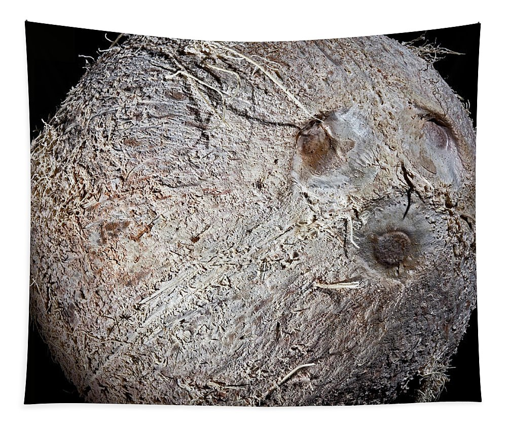 Macro Tapestry featuring the photograph White Coconut by Robert Storost