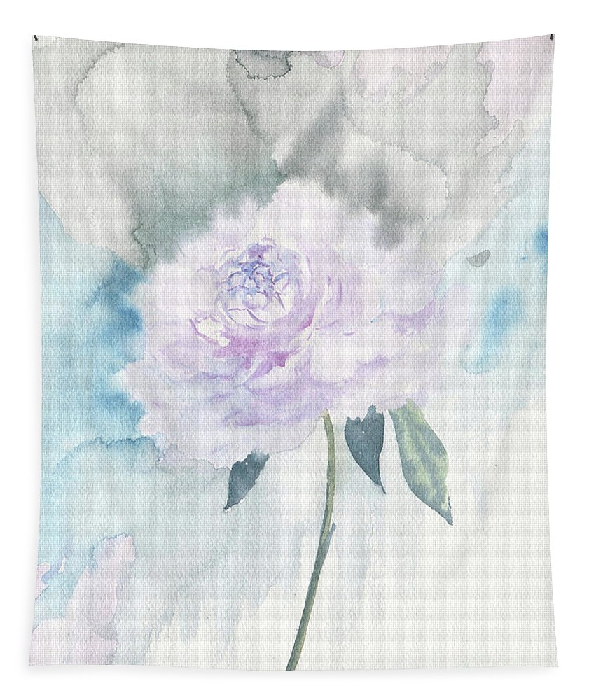 White Peony Tapestry featuring the painting White Peony by Melly Terpening