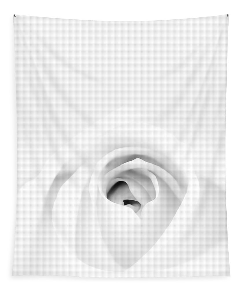 White Tapestry featuring the photograph White Rose by Scott Norris