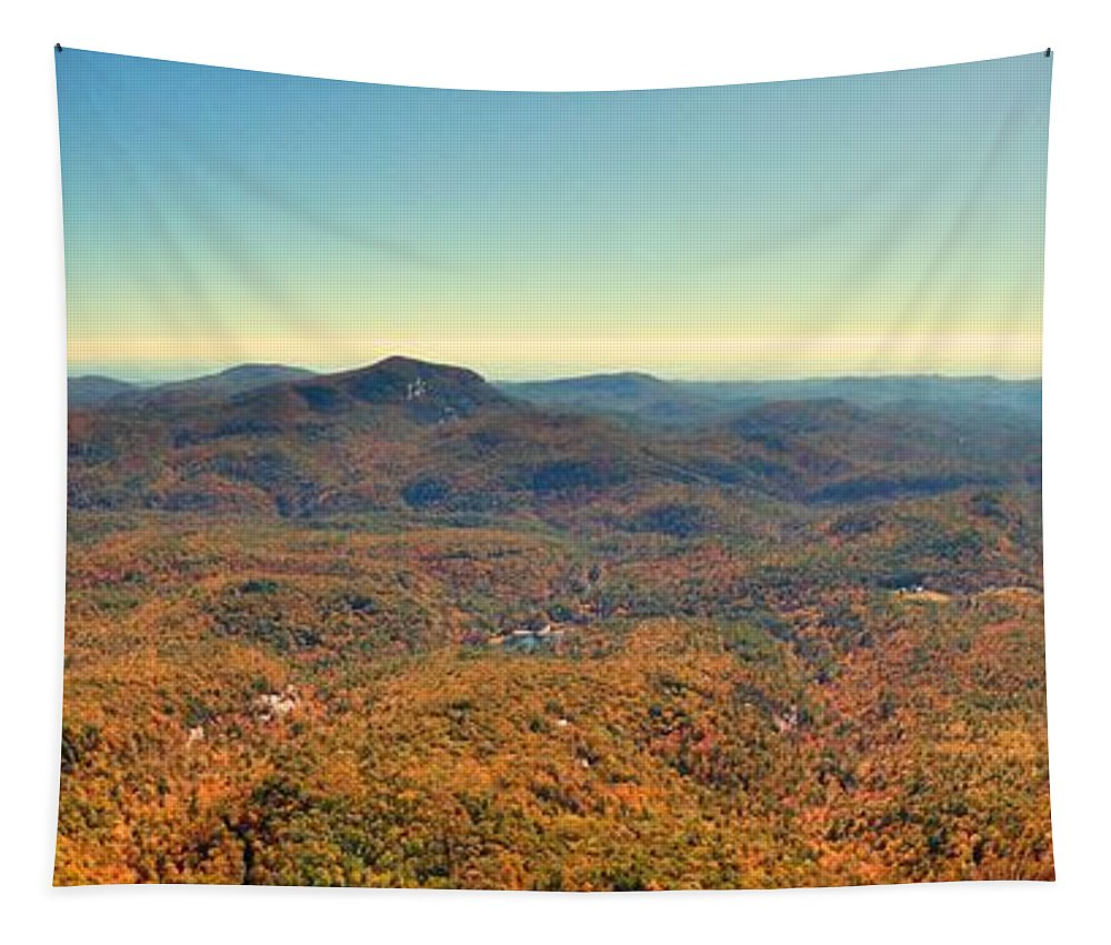 White Side Mountain Panorama Tapestry featuring the photograph White Side Mountain Panorama by Lisa Wooten