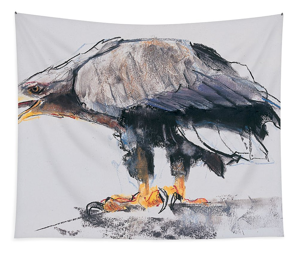 Sea Eagle Tapestry featuring the painting White Tailed Sea Eagle by Mark Adlington