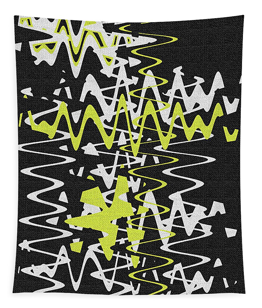 Tapestry featuring the photograph White Yellow On Black by Tom Janca