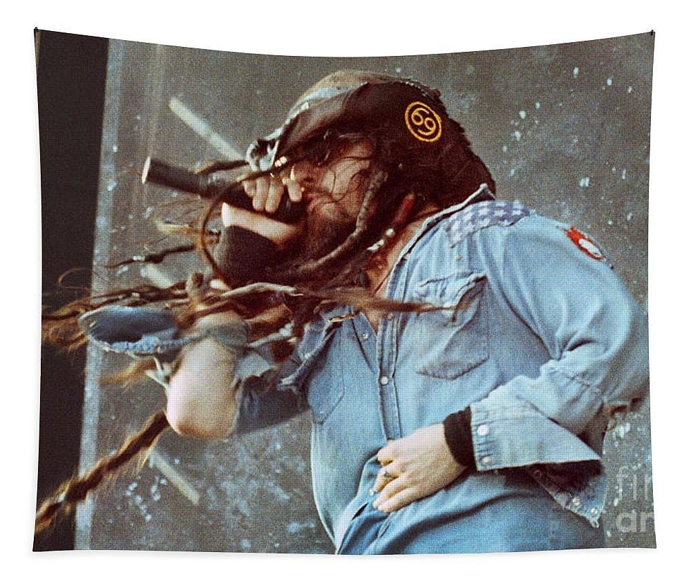 White Zombie Tapestry featuring the photograph White Zombie 93-rob-0351 by Timothy Bischoff