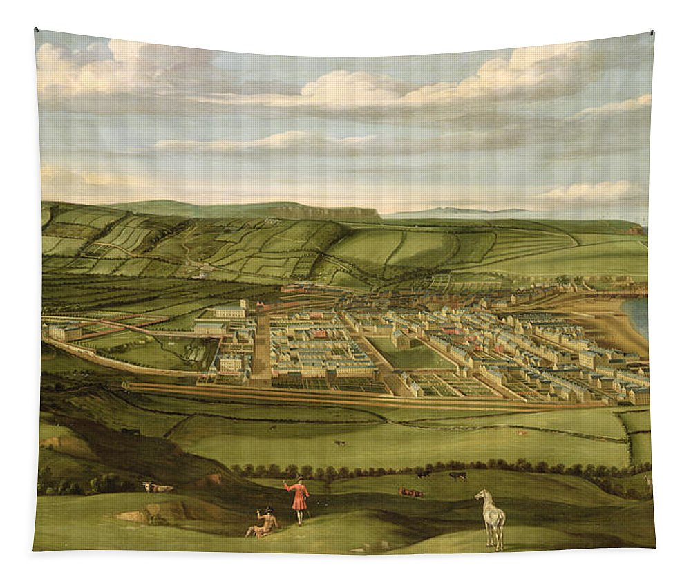 Xyc127201 Tapestry featuring the photograph Whitehaven - Cumbria by Matthias Read