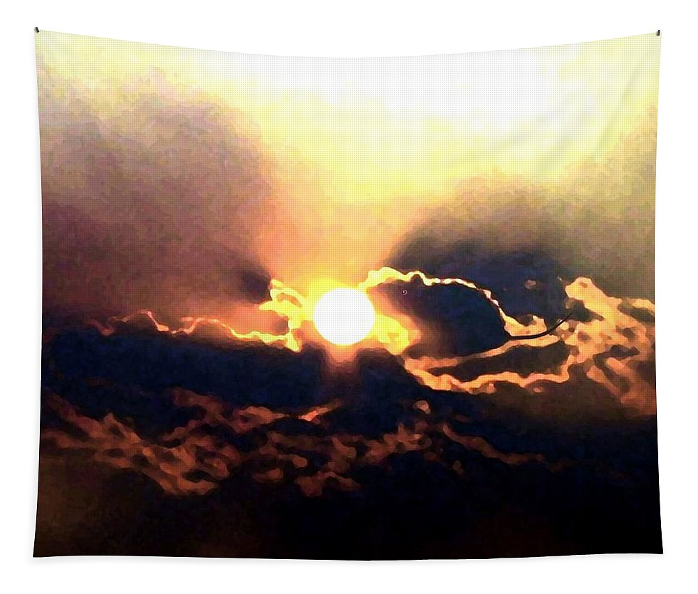 Abstract Tapestry featuring the digital art Who Has Kissed The Sun by Will Borden