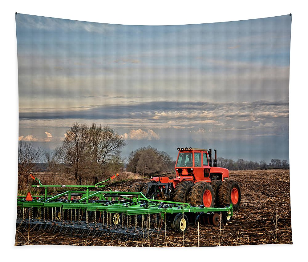 Tractor Tapestry featuring the photograph Who'll Stop The Rain 2 by Bonfire Photography