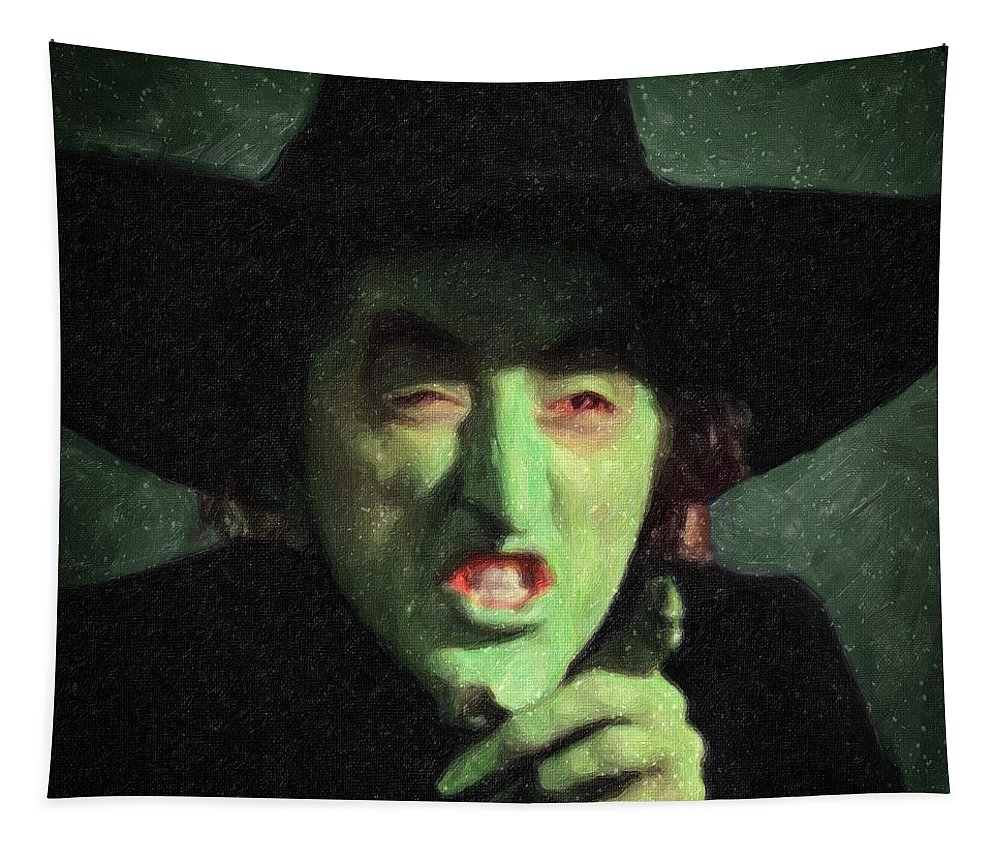 Wicked Witch Of The East Tapestry featuring the painting Wicked Witch Of The East by Zapista Zapista