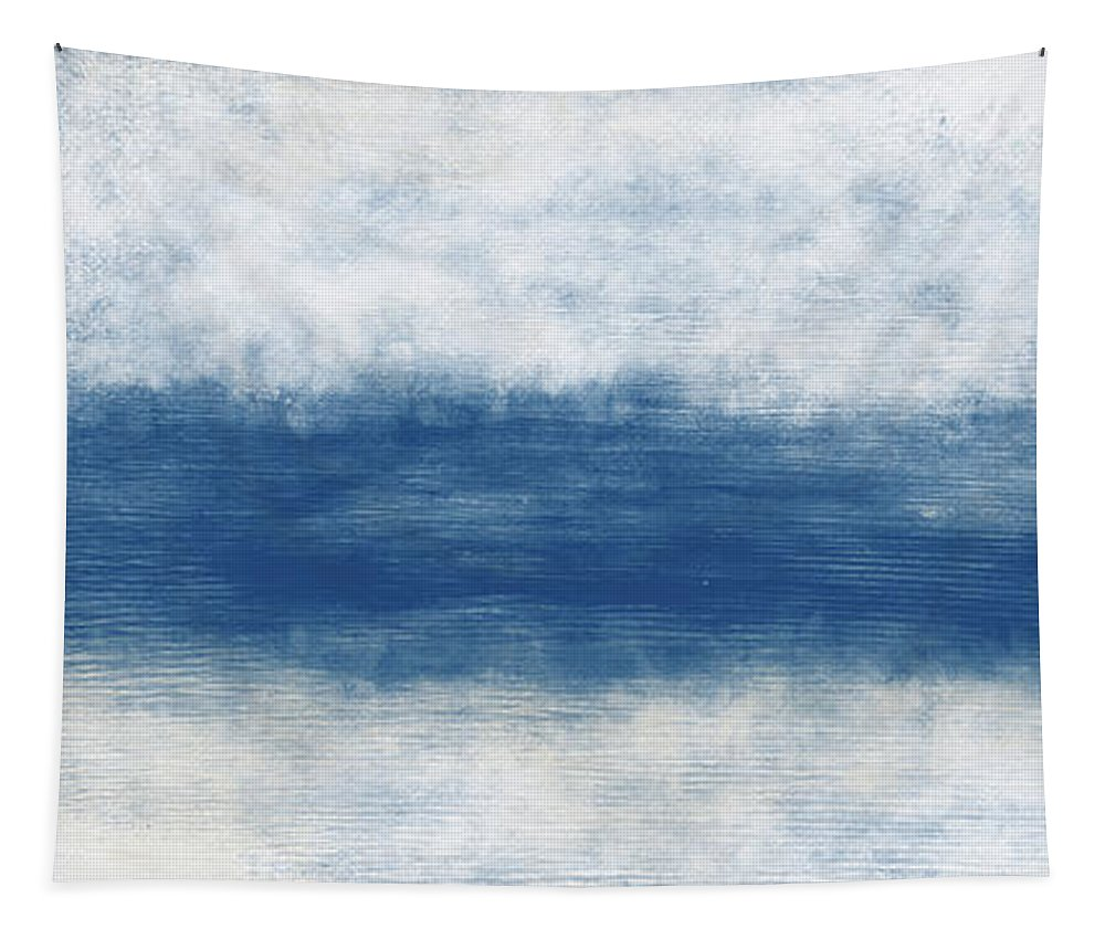 Beach Tapestry featuring the mixed media Wide Open Ocean- Art by Linda Woods by Linda Woods