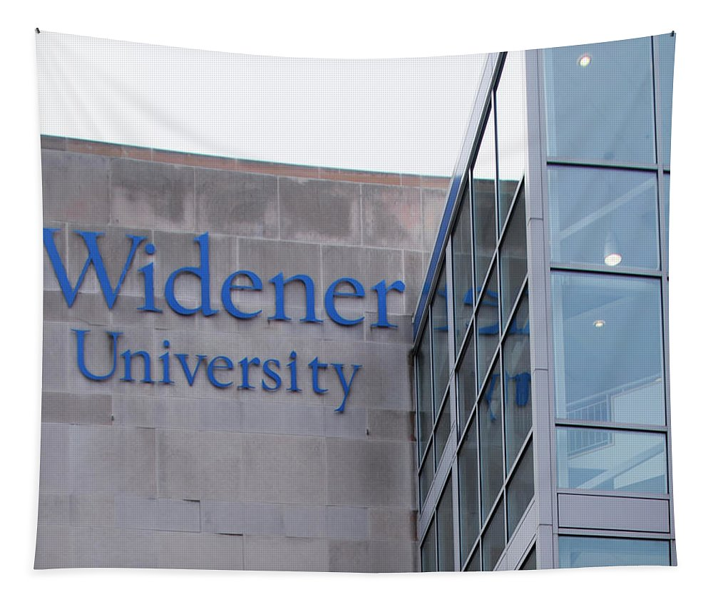 Widener Tapestry featuring the photograph Widener University - Metropoliton Hall by Bill Cannon