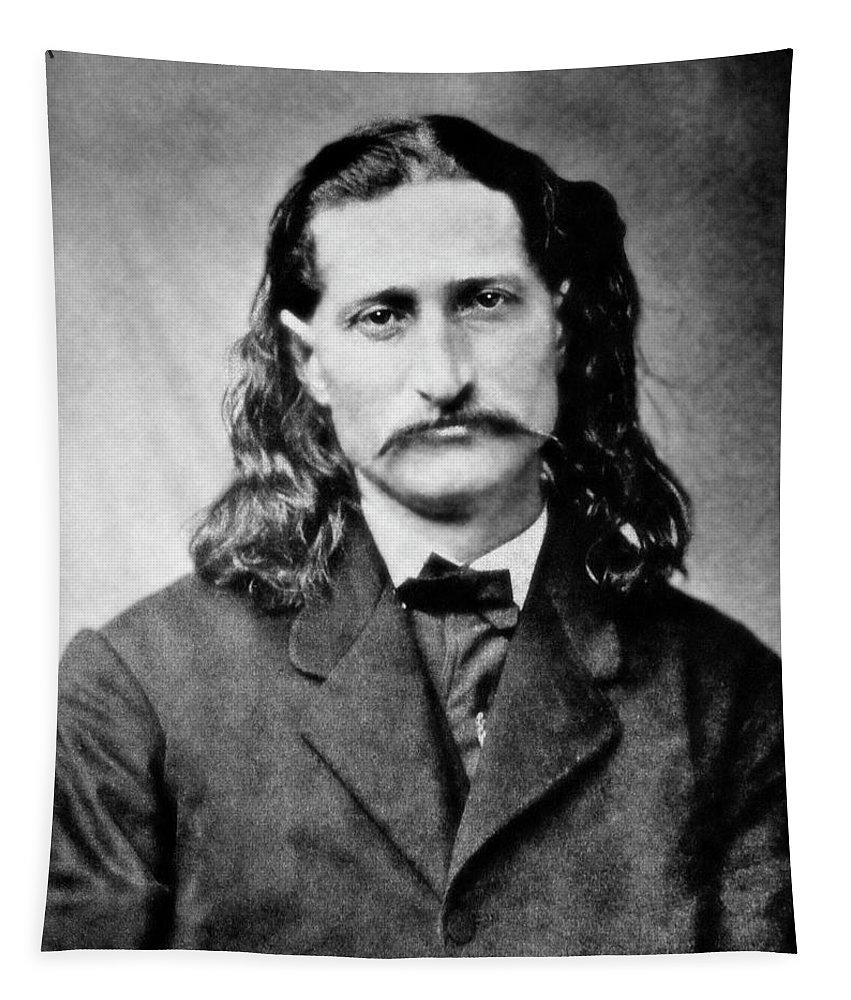 wild Bill Tapestry featuring the photograph Wild Bill Hickok - American Gunfighter Legend by Daniel Hagerman