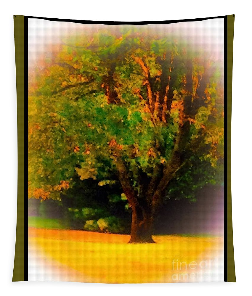 Wild Tapestry featuring the photograph Wild Cherry Tree In Summer Sun by Debra Lynch