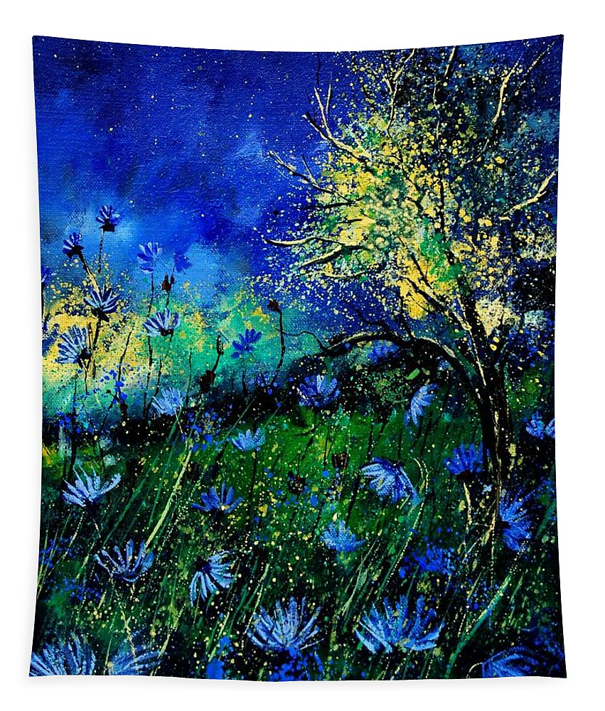 Poppies Tapestry featuring the painting Wild Chocoree by Pol Ledent