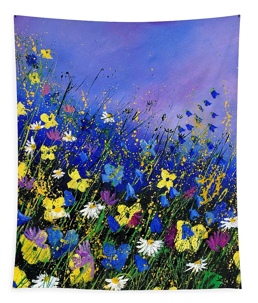 Flowers Tapestry featuring the painting Wild flowers 560908 by Pol Ledent