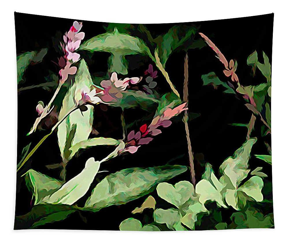 Photography Tapestry featuring the mixed media Wild Flowers In Pastel by Debra Lynch
