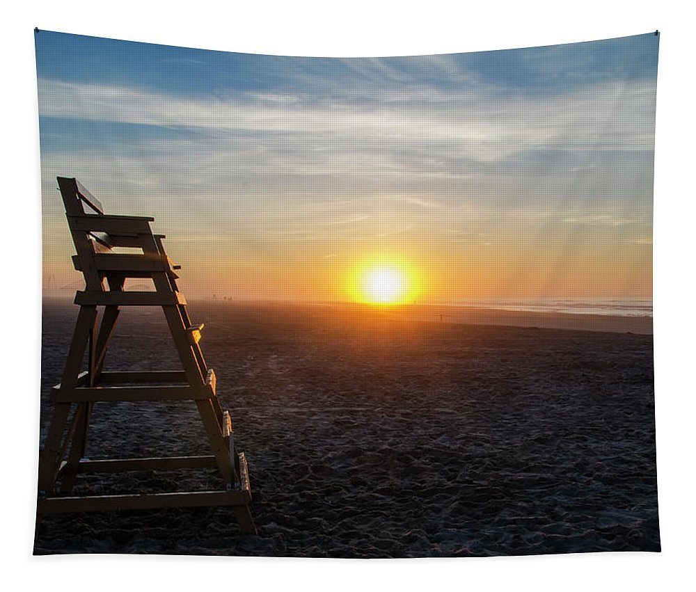 Wildwood Tapestry featuring the photograph Wildwood New Jersey - Peaceful Morning by Bill Cannon