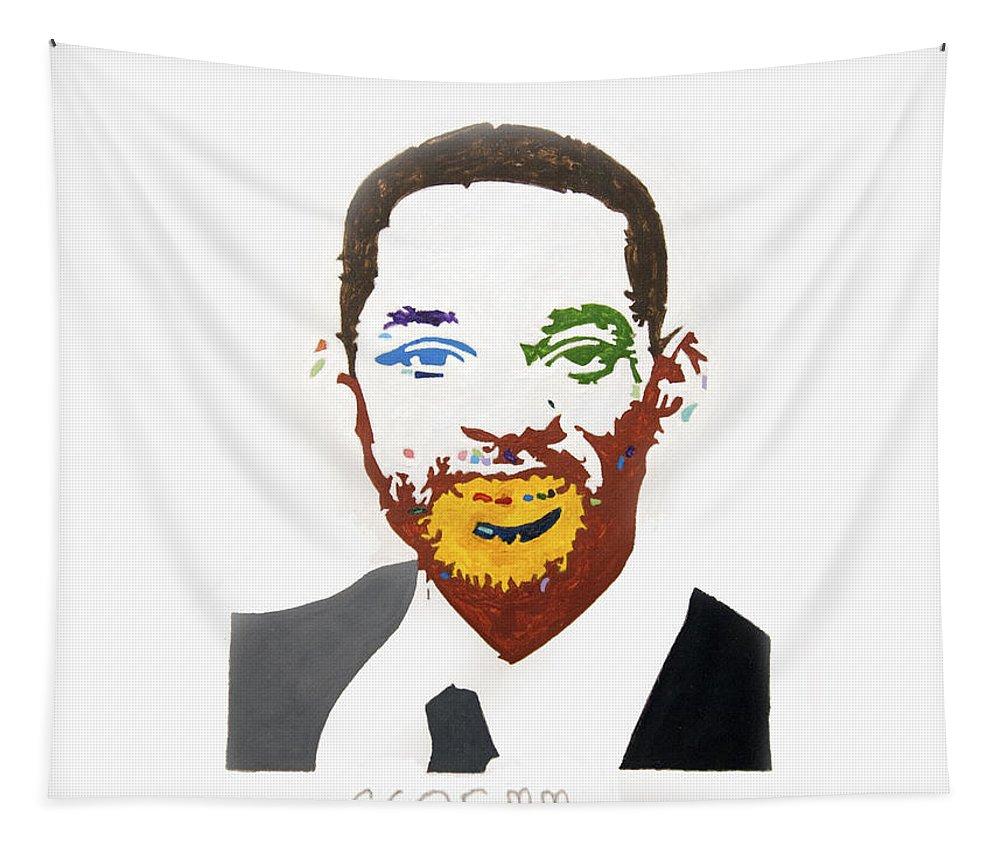 Pop Art Tapestry featuring the painting Will Smith by Stormm Bradshaw
