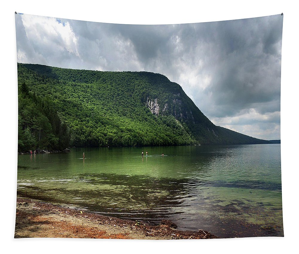 Willoughby Tapestry featuring the photograph Willoughby Lake In Westmore Vermont by Nancy Griswold
