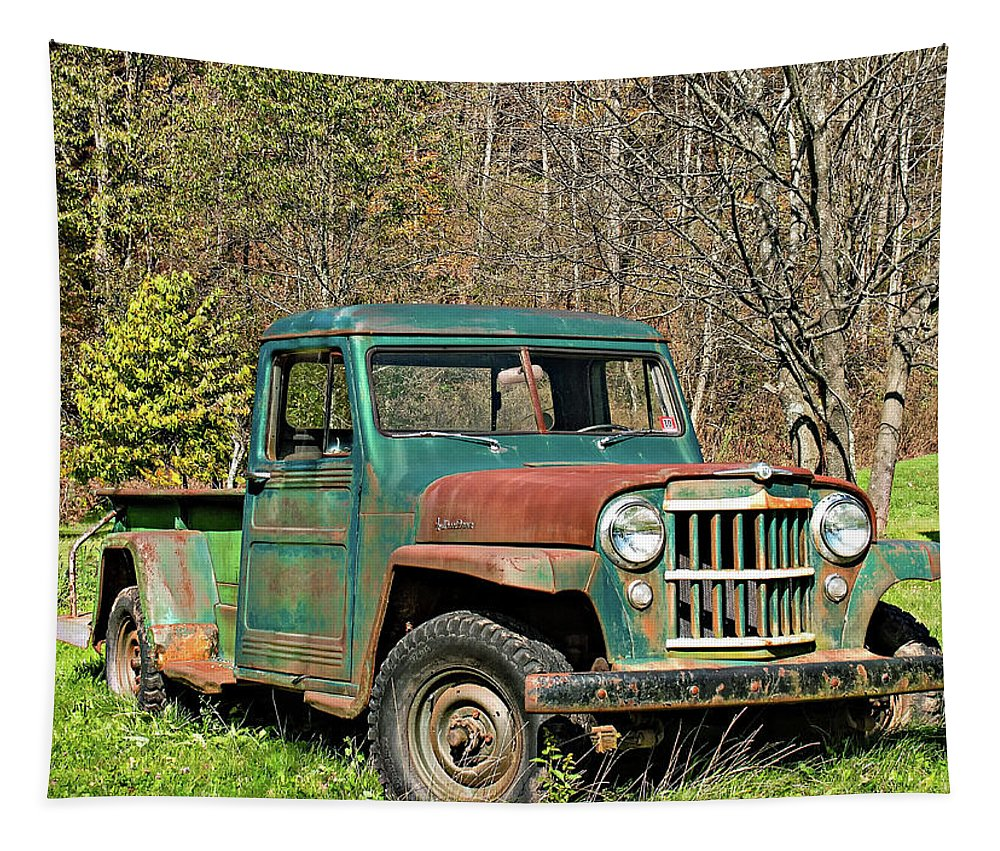 Willys Jeep For Sale >> Willys Jeep Pickup Truck Tapestry