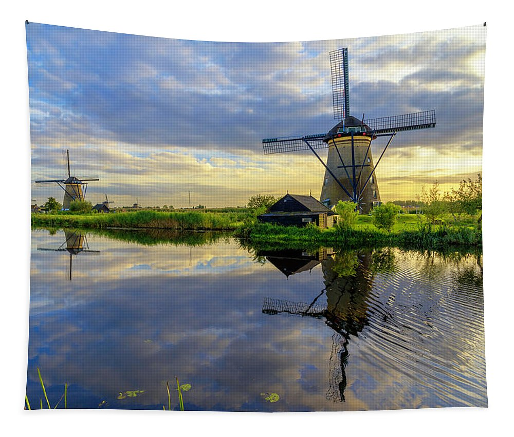 Windmill Tapestry featuring the photograph Windmills by Chad Dutson