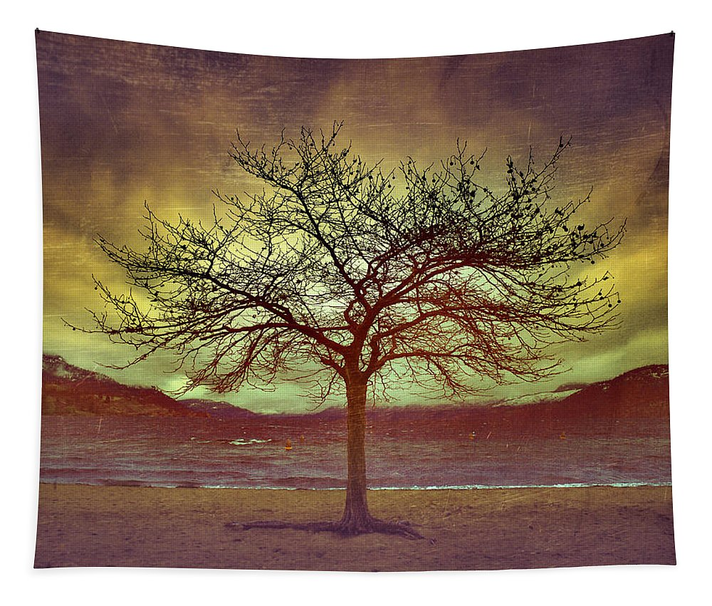 Wind Tapestry featuring the photograph Windstorm At Skaha Lake by Tara Turner