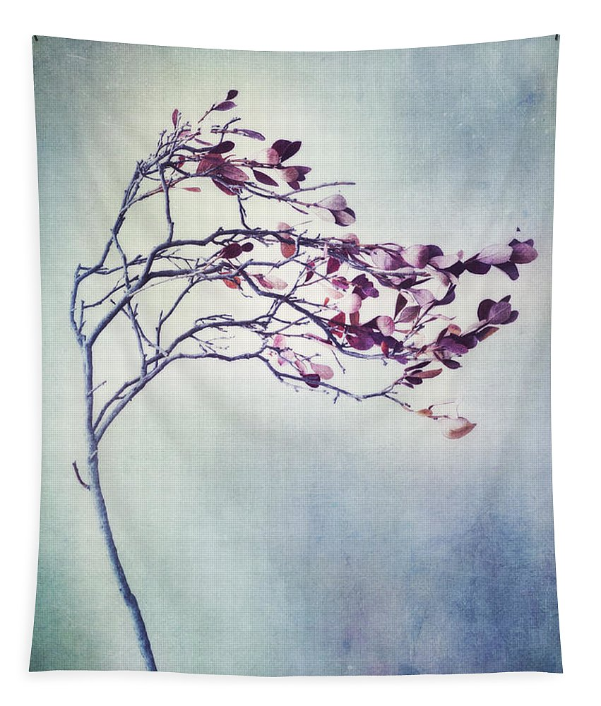 Blueberry Branch Tapestry featuring the photograph Windswept by Priska Wettstein