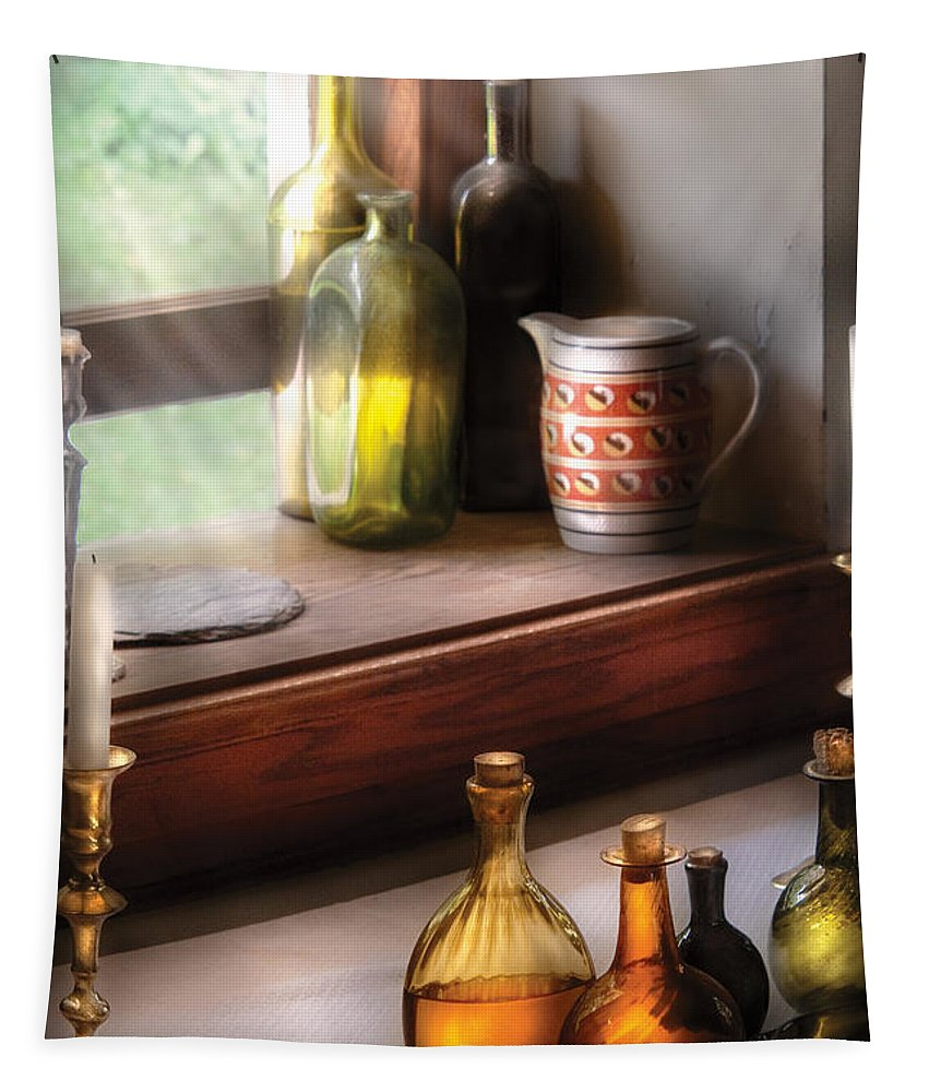 Alcohol Tapestry featuring the photograph Wine - Care For A Nip by Mike Savad