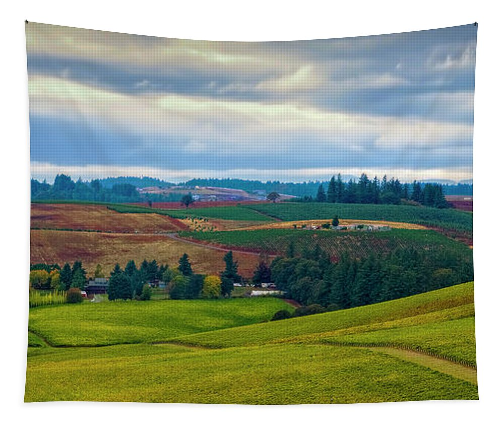 Jon Burch Tapestry featuring the photograph Wine Country by Jon Burch Photography