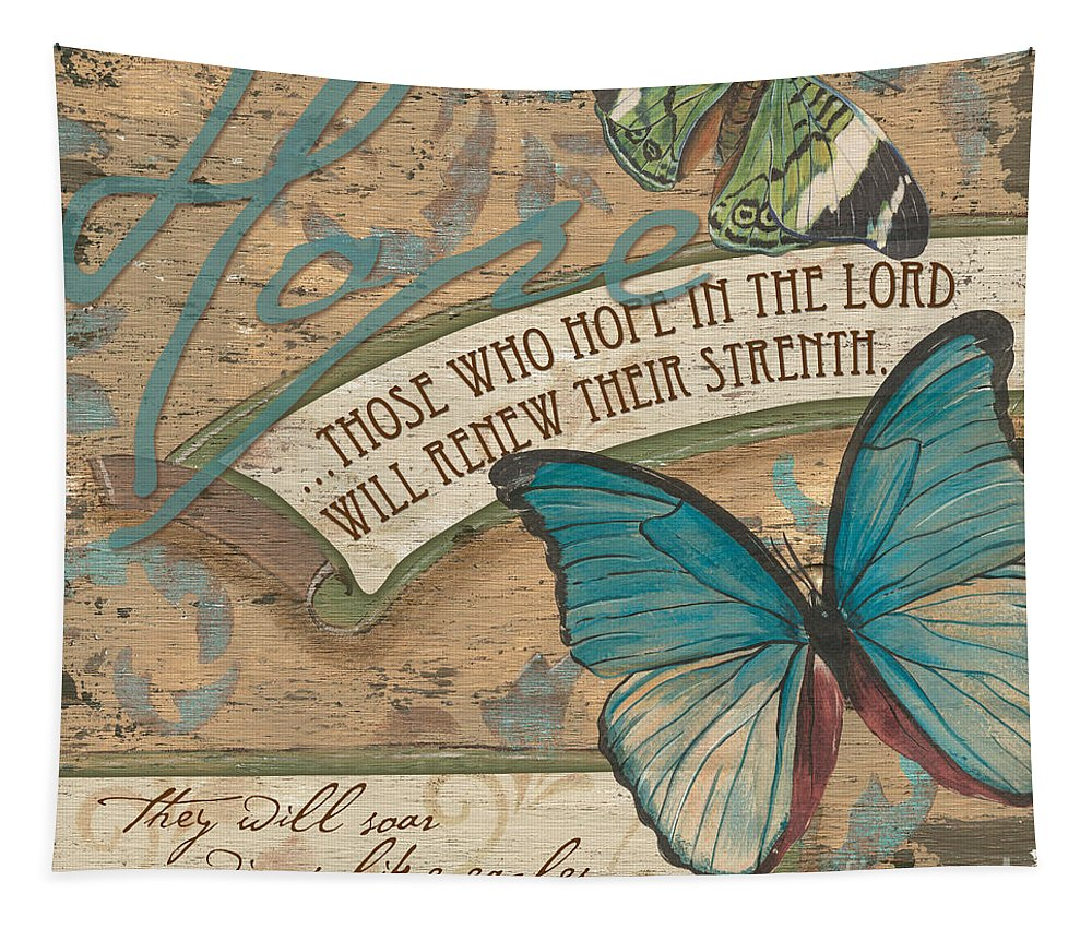 Butterfly Tapestry featuring the painting Wings of Hope by Debbie DeWitt