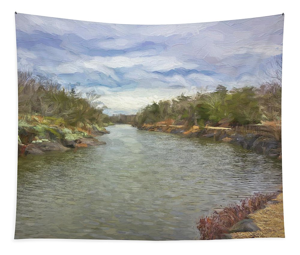 Winter Tapestry featuring the digital art Winter Day On The Canal by Francis Sullivan