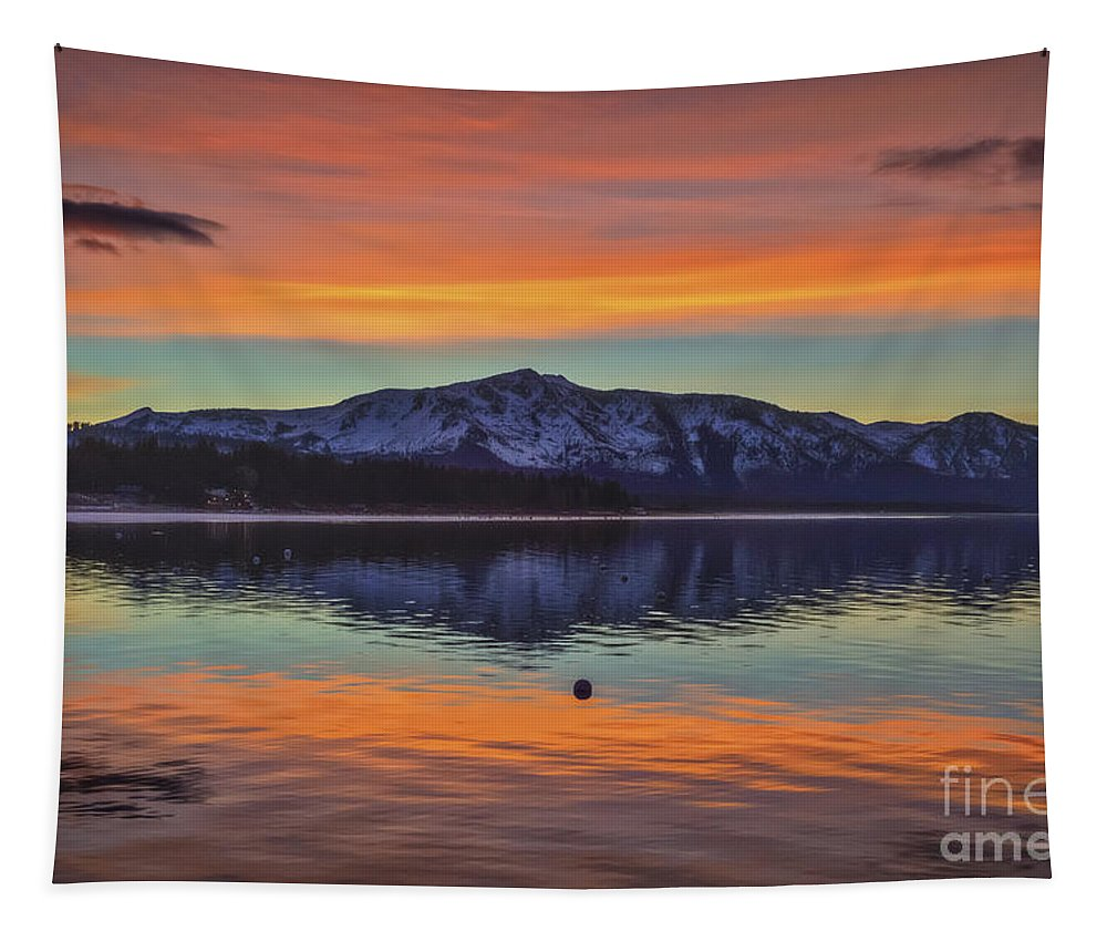 Winter Evening Tapestry featuring the photograph Winter Evening by Mitch Shindelbower