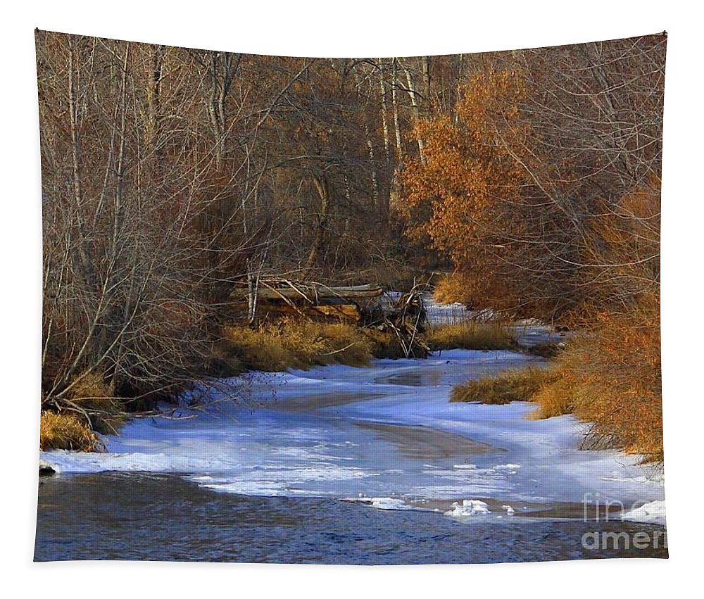 Yakima Tapestry featuring the photograph Winter Gold On The Yakima River by Carol Groenen